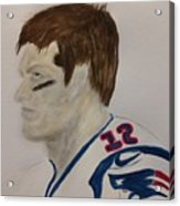 Tom Brady Determined Acrylic Print