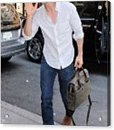Tom Cruise Carrying A Filson Bag Acrylic Print by Everett