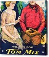 Tom Mix In Treat'em Rough 1919 Acrylic Print
