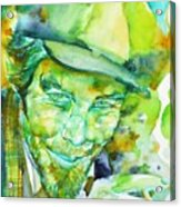Tom Waits - Watercolor Portrait.5 Acrylic Print