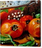 Tomatoes And Onions Acrylic Print