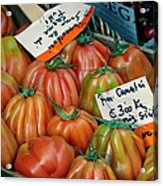 Tomatoes At Market Acrylic Print
