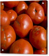 Tomatoes Sit In The Sun Awaiting Buyers Acrylic Print
