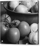 Tomatos Onion And Garlic Acrylic Print