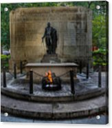 Tomb Of The Unknown Revolutionary War Soldier - George Washington  Acrylic Print by Lee Dos Santos