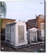 Tombs In St. Louis Cemetery Acrylic Print