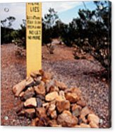 Tombstone Boot Hill Acrylic Print