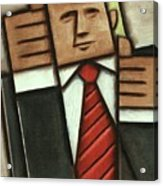 Tommervik Abstract Donald Trump Thumbs Up Painting Acrylic Print