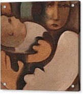 Abstract Mother And Baby Art Print Acrylic Print
