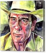 Tommy Lee Jones Portrait Watercolor Acrylic Print