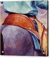 Toms Saddle Western Painting Cowboy Art Acrylic Print