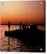 Tonger's Sunrise Acrylic Print by Skip Willits
