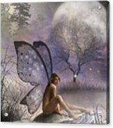 Tonight She Waits Acrylic Print by Crispin  Delgado