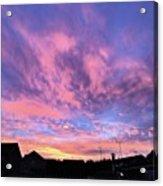 Tonight's Sunset Over Tesco :) #view Acrylic Print