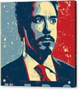 Tony Stark Acrylic Print by Caio Caldas