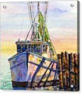 Tonyo Shrimp Boat Acrylic Print