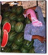 Too Hot To Sell Watermelons Acrylic Print
