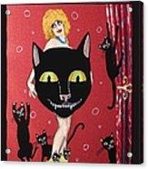 Too Many Black Cats Acrylic Print
