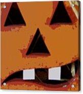 Toothy Pumpkin Acrylic Print