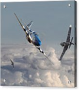 Top Gun - 1944 Version - P51 V Bf109g Acrylic Print
