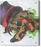 Top Hat Fox Acrylic Print