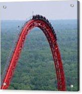 Top Of Intimidator 305 Rollercoaster Acrylic Print