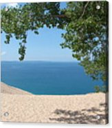 Top Of The Dune At Sleeping Bear Acrylic Print by Michelle Calkins