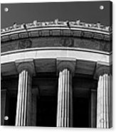 Top Portion Of A Lincoln Memorial Old Greek Architecture Acrylic Print