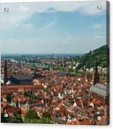 Top View Of Heidelberg, Germany. Acrylic Print