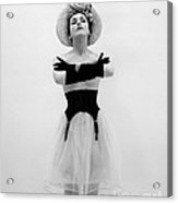 Topless Woman With Long Gloves, C.1950s Acrylic Print