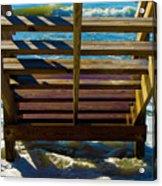 Topsail Island Ocean Steps Acrylic Print