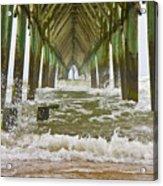 Topsail Island Pier Acrylic Print
