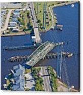 Topsail Island Swing Bridge Acrylic Print by Betsy Knapp