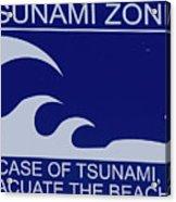 Topsail Island's Tsunami Zone Sign Acrylic Print