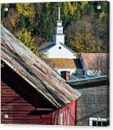 Topsham Village Vermont Acrylic Print