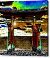 Torii Sunrise Acrylic Print