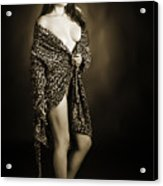 Toriwaits Nude Fine Art Print Photograph In Black And White 5105 Acrylic Print