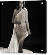 Toriwaits Nude Fine Art Print Photograph In Black And White 5118 Acrylic Print