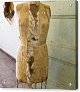 Torn Dress Form Acrylic Print