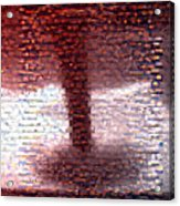 Tornado From Sunsets Mosaic Acrylic Print