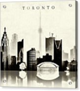 Toronto Black And White Acrylic Print