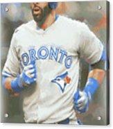 Toronto Blue Jays Jose Bautista Acrylic Print