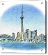 Toronto Canada City Skyline Acrylic Print