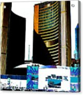 Toronto City Hall Graphic Poster Acrylic Print