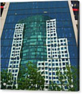 Toronto Metro Hall Reflected In The Cbc Building Acrylic Print