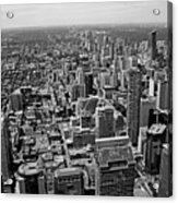 Toronto Ontario Scrapers In Black And White Acrylic Print