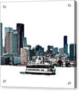 Toronto Portlands Skyline With Island Ferry Acrylic Print