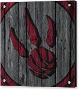 Toronto Raptors Wood Fence Acrylic Print