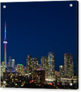 Toronto Skyline And World Pride Acrylic Print