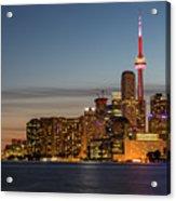 Toronto Skyline At Dusk Acrylic Print
